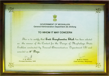 Award by Govt. Of Maghalaya